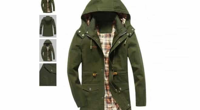 Seulement 18€ la veste à capuche pour homme