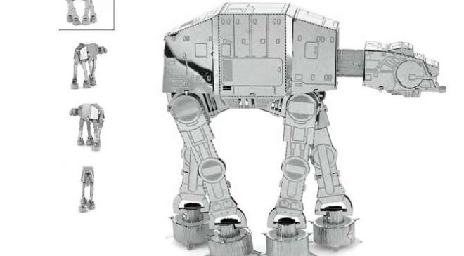 0,68€ le puzzle 3D métal robot AT-AT Star Wars