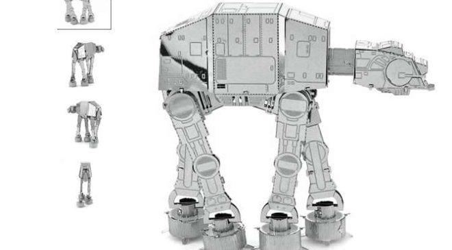 MINI PRIX : 0,68€ le puzzle 3D métal Star Wars (robot AT-AT) – livraison gratuite