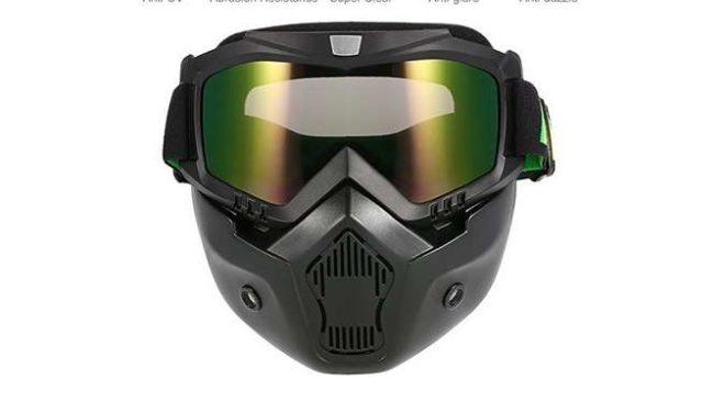 13,29€ le masque avec filtre pour casque de moto, ski