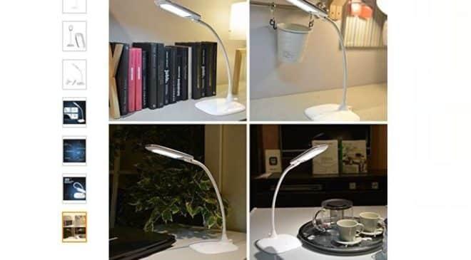 14,99€ lampe de bureau flexible et rechargeable LED (sur secteur ou batterie)