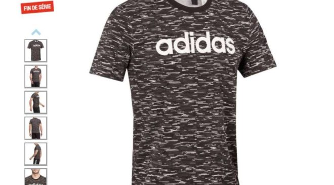 14,99€ le t-shirt homme Adidas Gym-Pilates