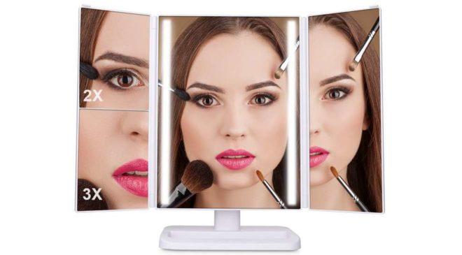 17,99€ le miroir de maquillage pro lumineux tactile