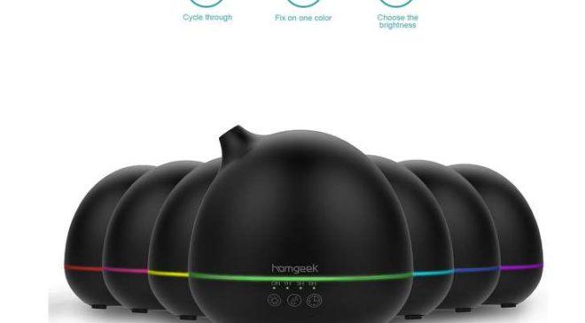 19,99€ le diffuseur d'huile essentielle ultrasons LED Homgeek