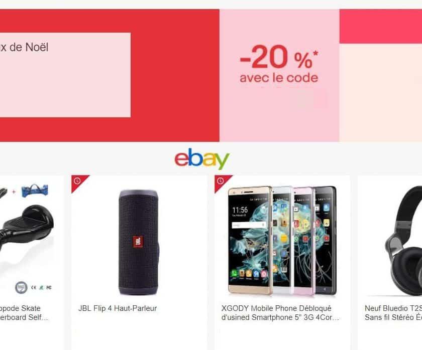 20% de remise sur toute la boutique de Noël Ebay