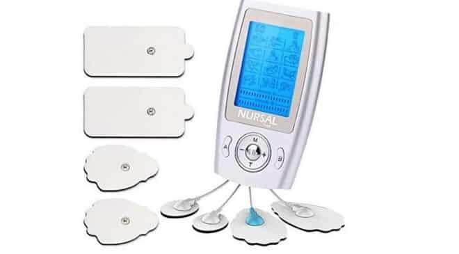 29,99€ électro-stimulateur à électrodes pour massage Nursal (soulage courbatures, nuque, épaules…