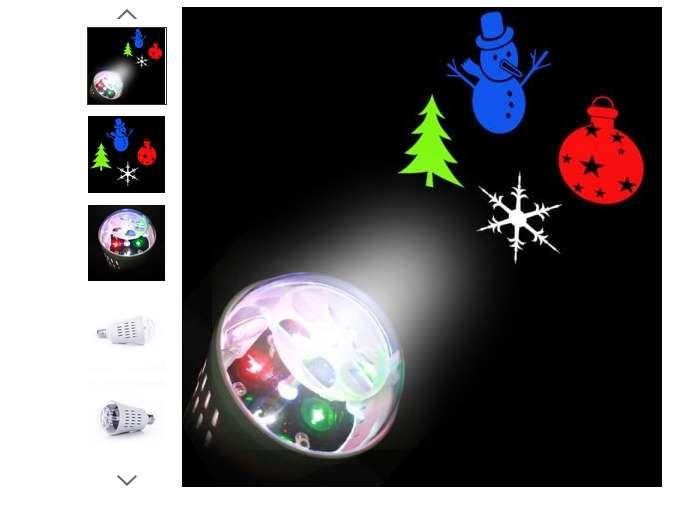3,48€ ampoule projecteur de formes de Noël