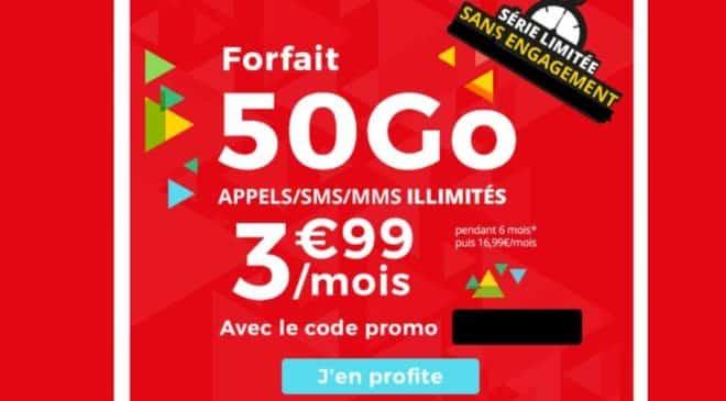 3,99€ le forfait 50Go Auchan Telecom