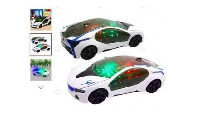 3€ la voiture électrique 20cm (roule, lumière, musique)