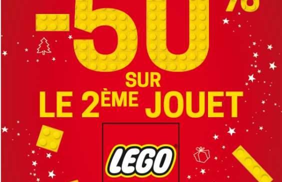 -50% sur le second jouet Lego King Jouet