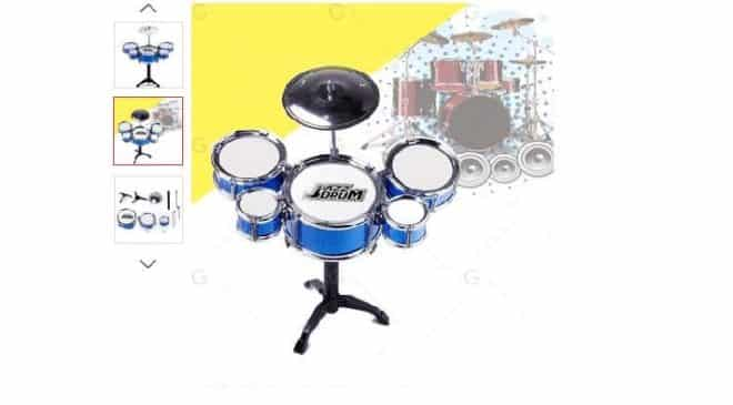 5,19€ la mini batterie Jazz Drum port inclus