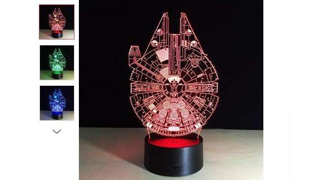 8,15€ la lampe vaisseau Millennium Falcon