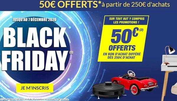 Black Friday But 50€ Offerts En Bon D'achat Dés 250€ D'achat