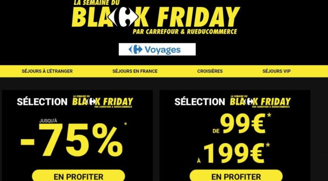 Black Friday Carrefour Voyages