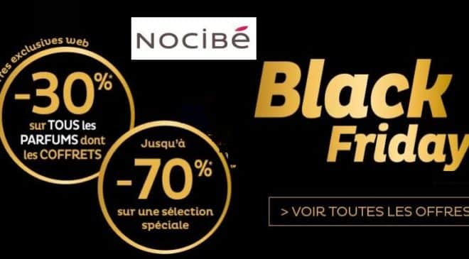 Black Friday Nocibé : -30% sur les parfums (dont coffrets) + ventes flash