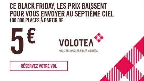Black Friday Volotea 100000 billets d'avion à partir de 5€
