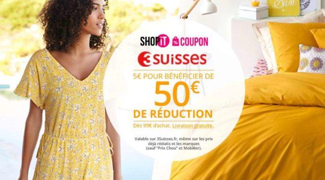 Bon d'achat 3 Suisses Showroomprivé