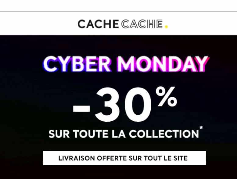 Cyber Monday - Black Friday Cache Cache