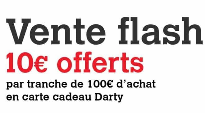 DartyDays Flash : 10 euros offerts tous les 100 euros d'achat