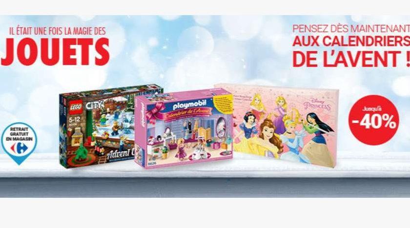 Carrefour 20 sur les calendriers de l avent lego playmobil vtech et cars - Carrefour calendrier de l avent ...