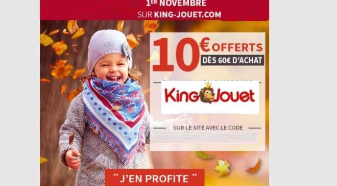 King Jouet 1 Novembre : remise de 10€
