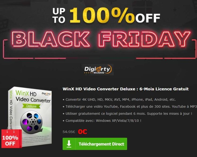 Logiciel WinX HD Video Converter Deluxe