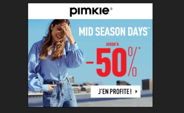 Mid Season Days Pimkie Jusqu'à Moins 50%
