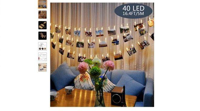 Moins de 10€ la guirlande 40 pinces LED