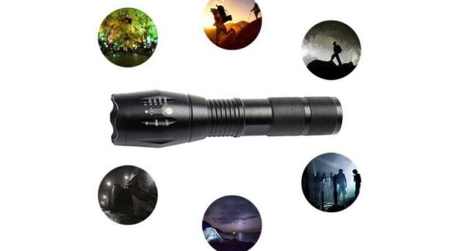 Moins de 4€ la lampe torche LED waterproof télescopique aluminium