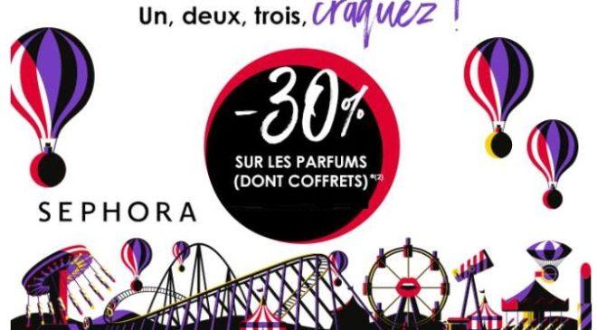 Sephora : 30% de remise sur tous les parfums même coffrets