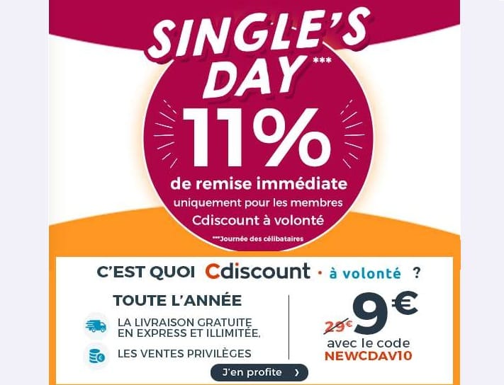 Single's Day Cdiscount