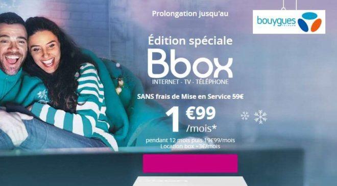 Vente flash Bbox : 1,99€ Box Internet + TV + Téléphonie