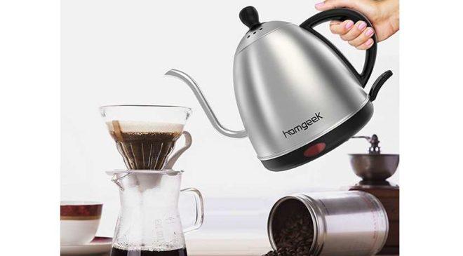 bouilloire électrique acier café et thé thermomètre Homgeek