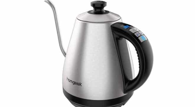 bouilloire électrique acier pour café et thé avec thermomètre Homgeek