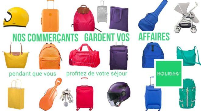 consigne à bagages et objets (casque, sac…) commerçants Holibag