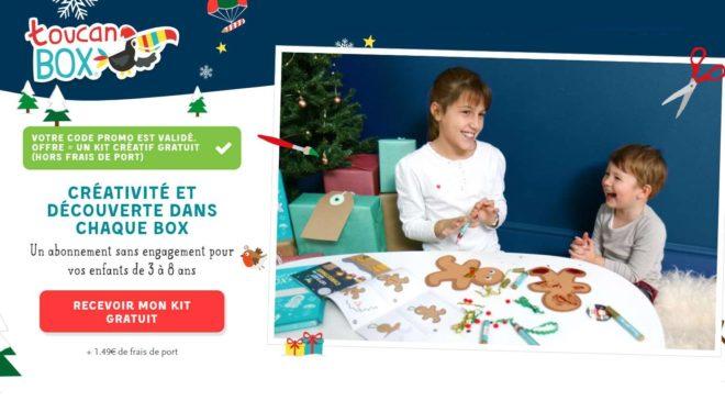 kit créatif enfant spécial Noel toucanBox GRATUIT