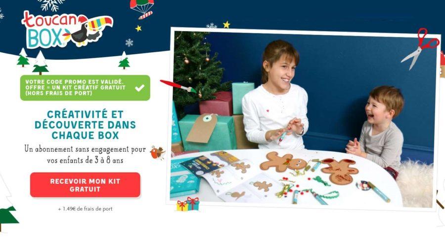 1 kit cr atif enfant sp cial noel toucanbox gratuit port - Code promo mister auto frais port offert ...