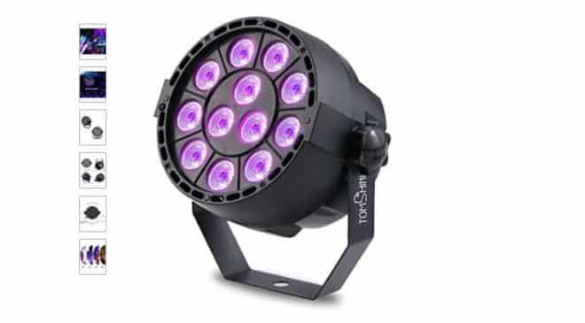 moins de 20€ le projecteur jeu de lumiere LED DMX-512 Tomshine