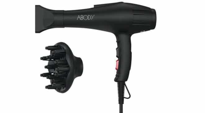 moins de 30€ le sèche-cheveux ionique Abody Pro 2000-2400W