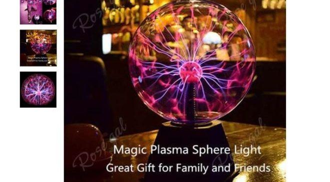 moins de 7€ la sphère lumineuse effet plasma