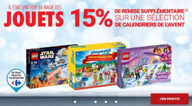 Calendrier De L Avent Lego Star Wars Carrefour.15 De Remise Supplementaire Sur Les Calendriers De L Avent