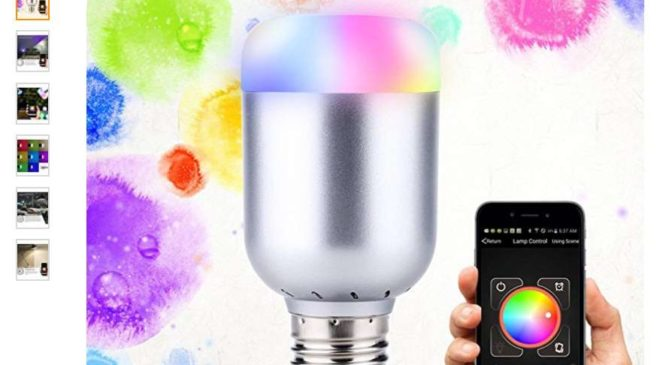 smart-ampoule LED Bluetooth d'ambiance Lixada