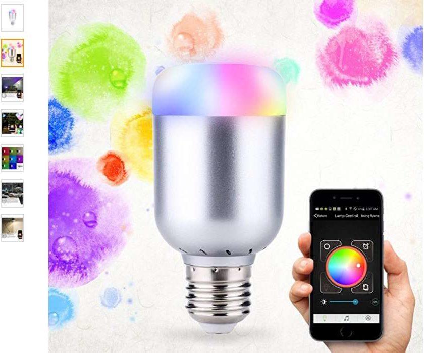 smart-ampoule LED Bluetooth d'ambiance Lixada