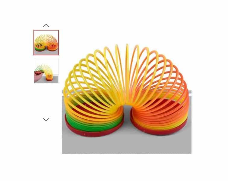 0,26 le jouet ressort multi couleur
