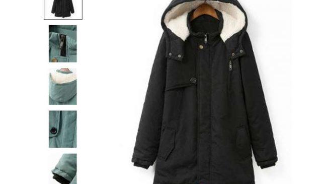 18,72€ le manteau avec capuche pour femme (grande taille XL et +)
