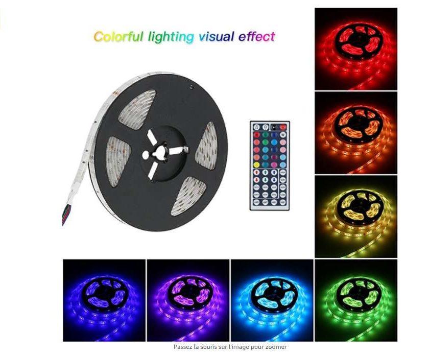 19,49€ la bande LED multicolore avec télécommande et adaptateur Tomshine