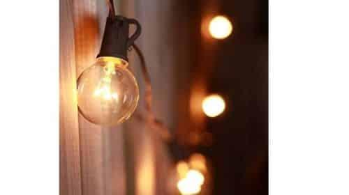 guirlande extérieure 25 ampoules boules de 10 mètres
