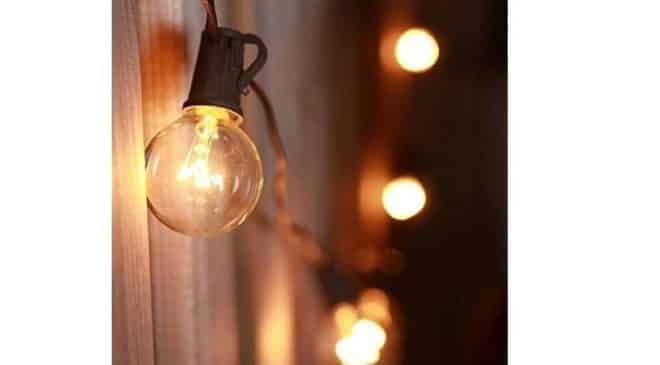 19,99€ la guirlande extérieure 25 ampoules boules de plus de 7 mètres