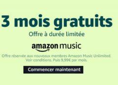 3 mois gratuit à Amazon Music Unlimited (streaming musicale illimité) sans engagement