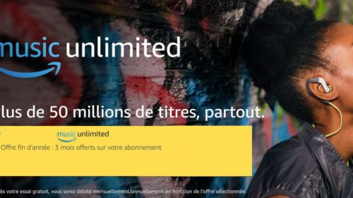 3 mois gratuit à Amazon Music Unlimited